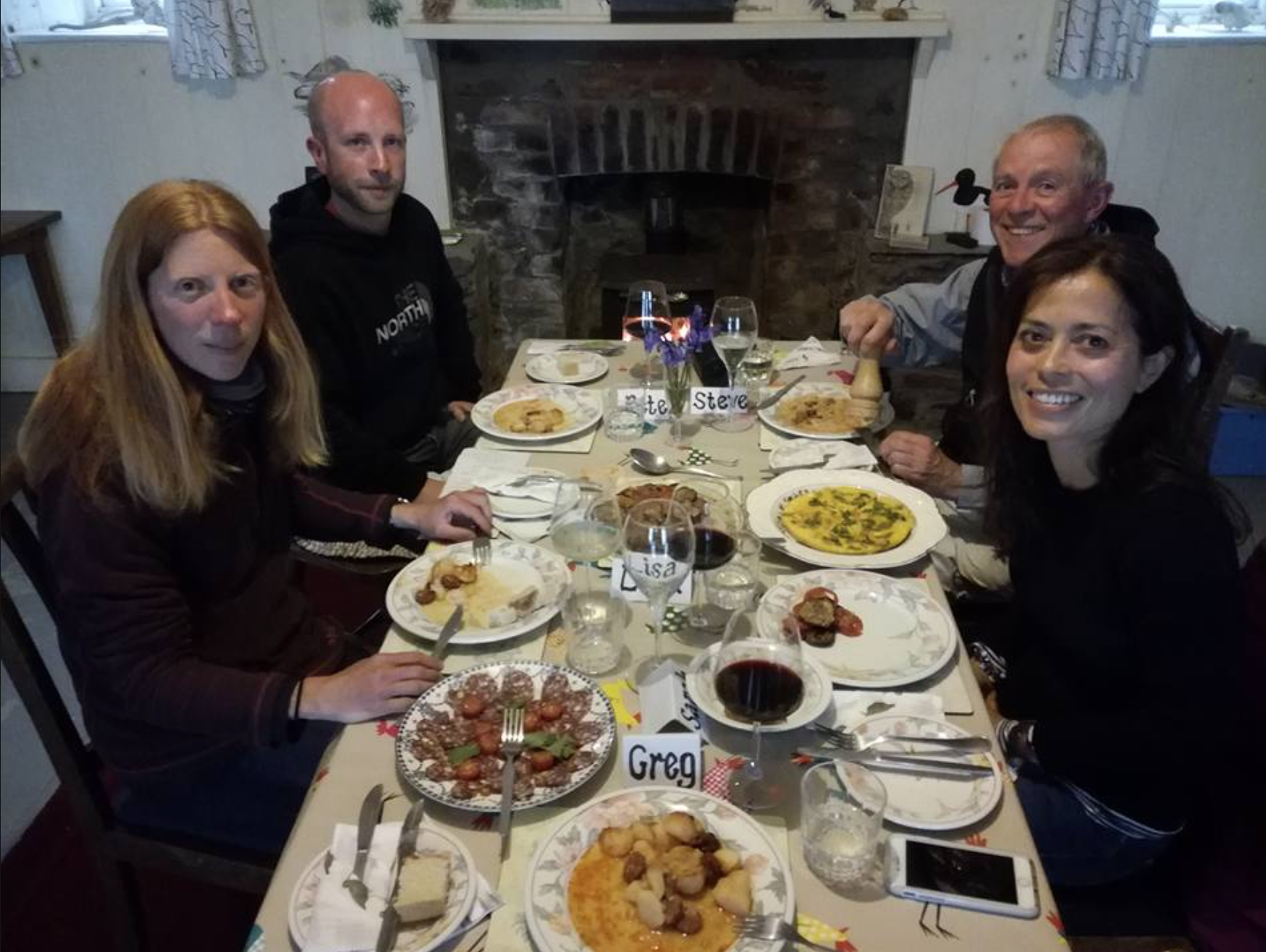 Ramsey Island RSPB wardens dinner party