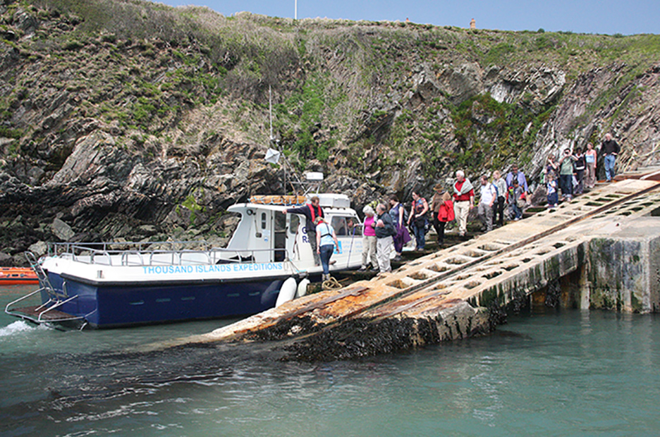 Ferry boat to land on Ramsey Island RSPB Nature Reserve